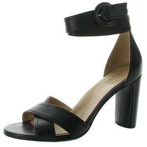 Naturalizer Black Ankle Wrap Rinna Sandal Shoes